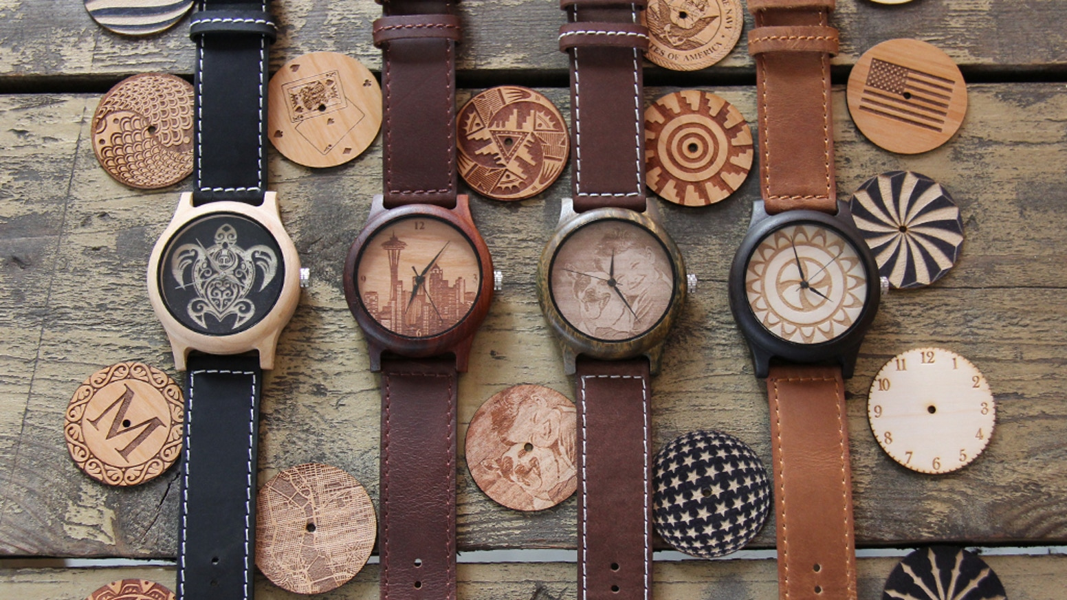 Customizable Wooden Watch